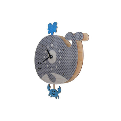 Whale Pendulum Wall Clock - Kids Edition