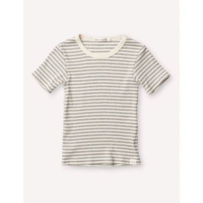Pascal Slim Tee - Grey/Cream - Kids Edition