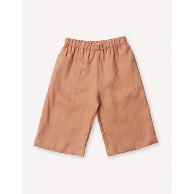 Cecile Culottes - Baked Clay - Petits Vilains,  a designer children shoes and accessories brand based in Vancouver, Canada. Carried by Kids Edition, the best online designer children clothing boutique based in Vancouver, Canada.