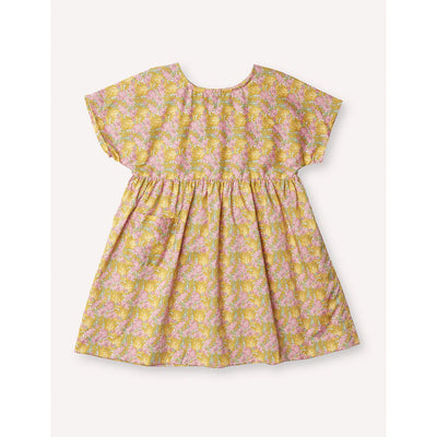 Marie Everyday Dress - Clementina Gold - Petits Vilains,  a designer children shoes and accessories brand based in Barcelona, Spain. Carried by Kids Edition, the best online designer children clothing boutique based in Vancouver, Canada.