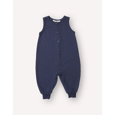 Milo Sleeveless Jumpsuit - Marine - Petits Vilains,  a designer children shoes and accessories brand based in Barcelona, Spain. Carried by Kids Edition, the best online designer children clothing boutique based in Vancouver, Canada.