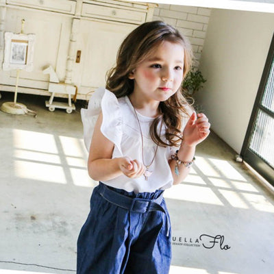White Mulla Blouse - Puella Flo, Carried by Kids Edition, Vancouver, Canada