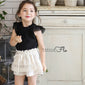 Beige Willow Apron Shorts - Kids Edition