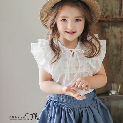 Ivory Adorable Blouse - Puella Flo, Carried by Kids Edition, Vancouver, Canada