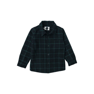 Forest Green And Black Check Shirt - Kids Edition