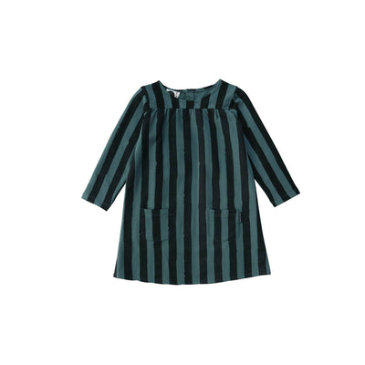 Forest Green Black Stripe Sweat Dress - Sproet & Sprout, Carried by Kids Edition, Vancouver, Canada