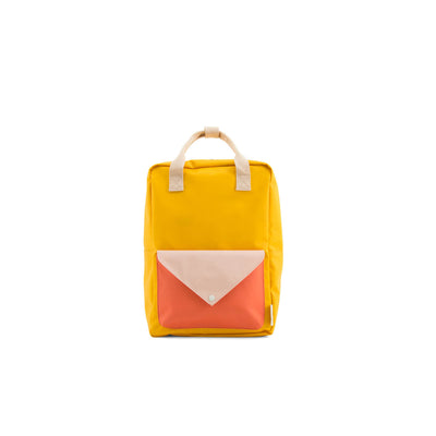 Large Warm Yellow Backpack Envelope - Sticky Lemon, Carried by Kids Edition, Vancouver, Canada