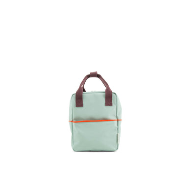 Small Sage Green Backpack Teddy - Sticky Lemon, Carried by Kids Edition, Vancouver, Canada