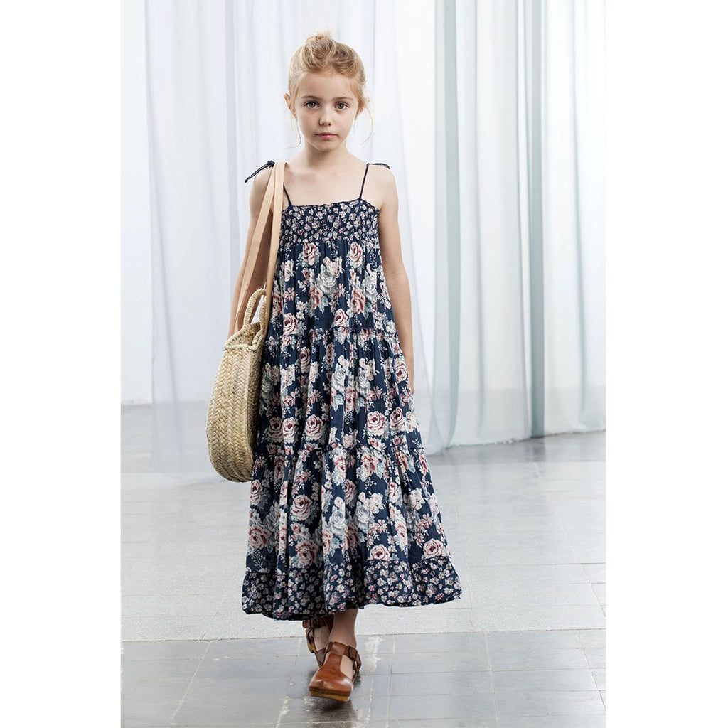 e11e331e6 Tocoto Vintage Flowers Long Dress - Kids Edition