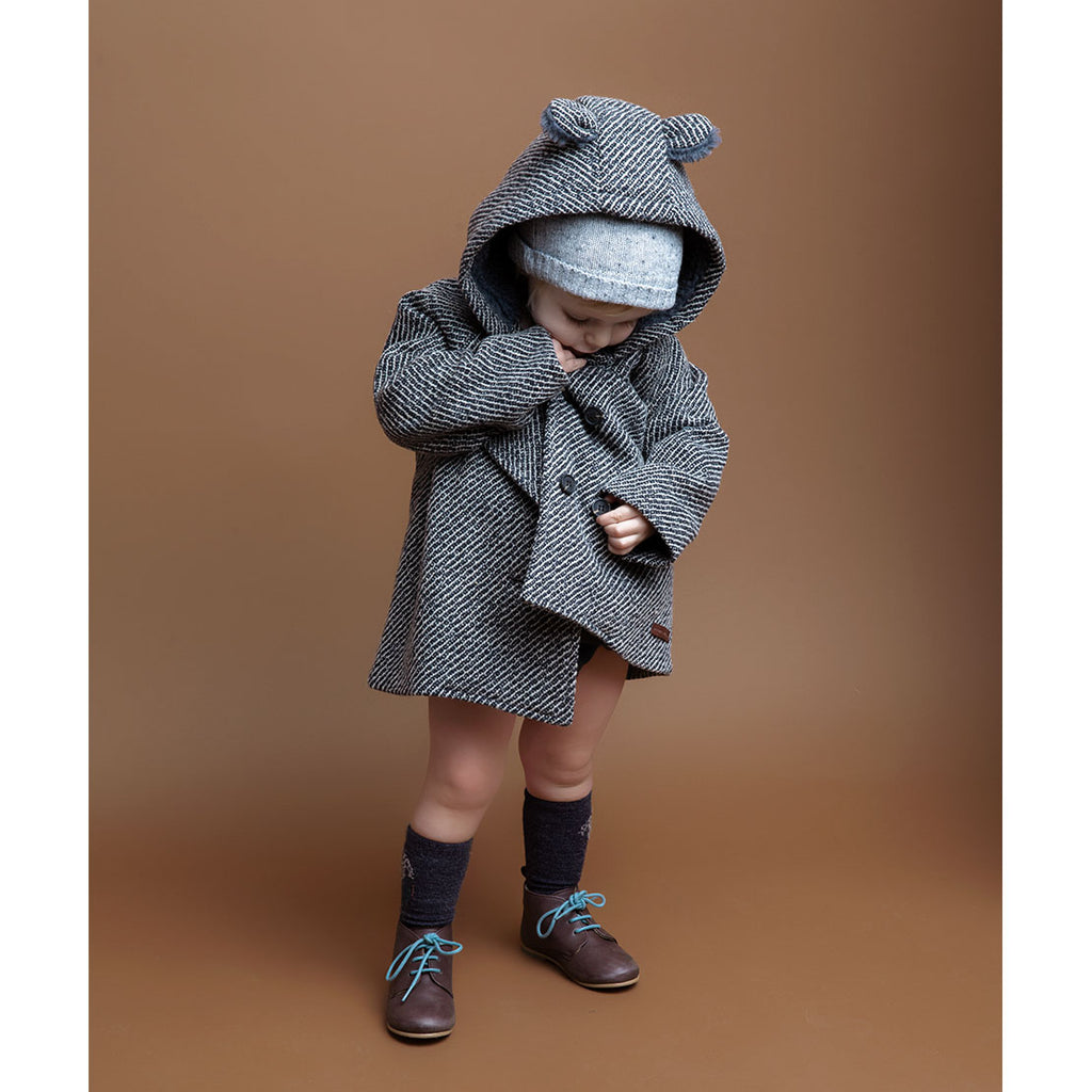 Herringbone Patern Baby Hooded Coat - Kids Edition
