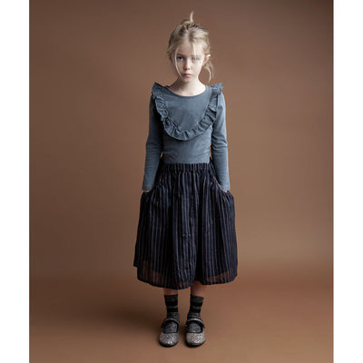Striped Lurex Skirt with Pockets - Kids Edition