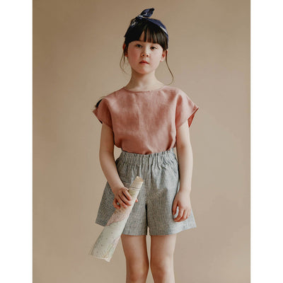 Lou Shell Top - Blush - Petits Vilains,  a designer children shoes and accessories brand based in Barcelona, Spain. Carried by Kids Edition, the best online designer children clothing boutique based in Vancouver, Canada.