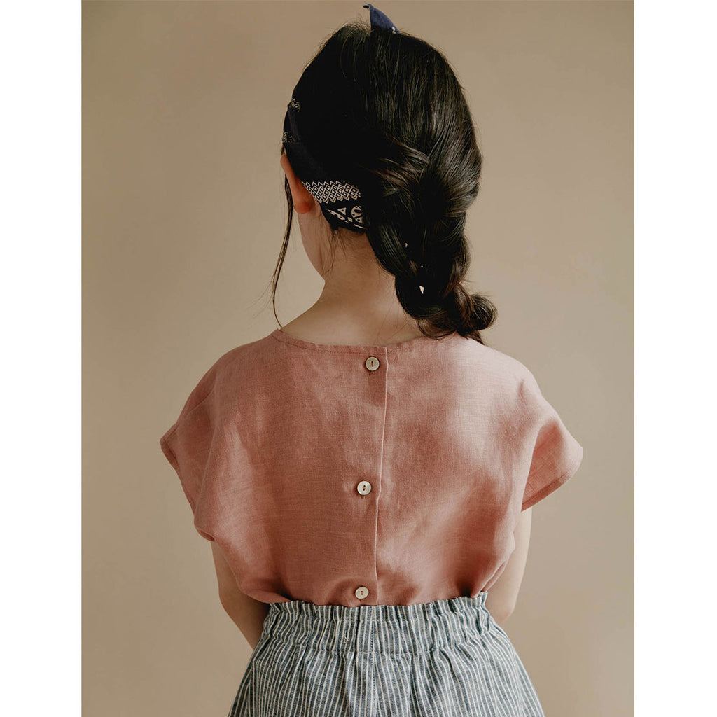 Lou Shell Top - Blush - Kids Edition