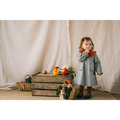 Cecilia Dress-Herringbone - Kids Edition