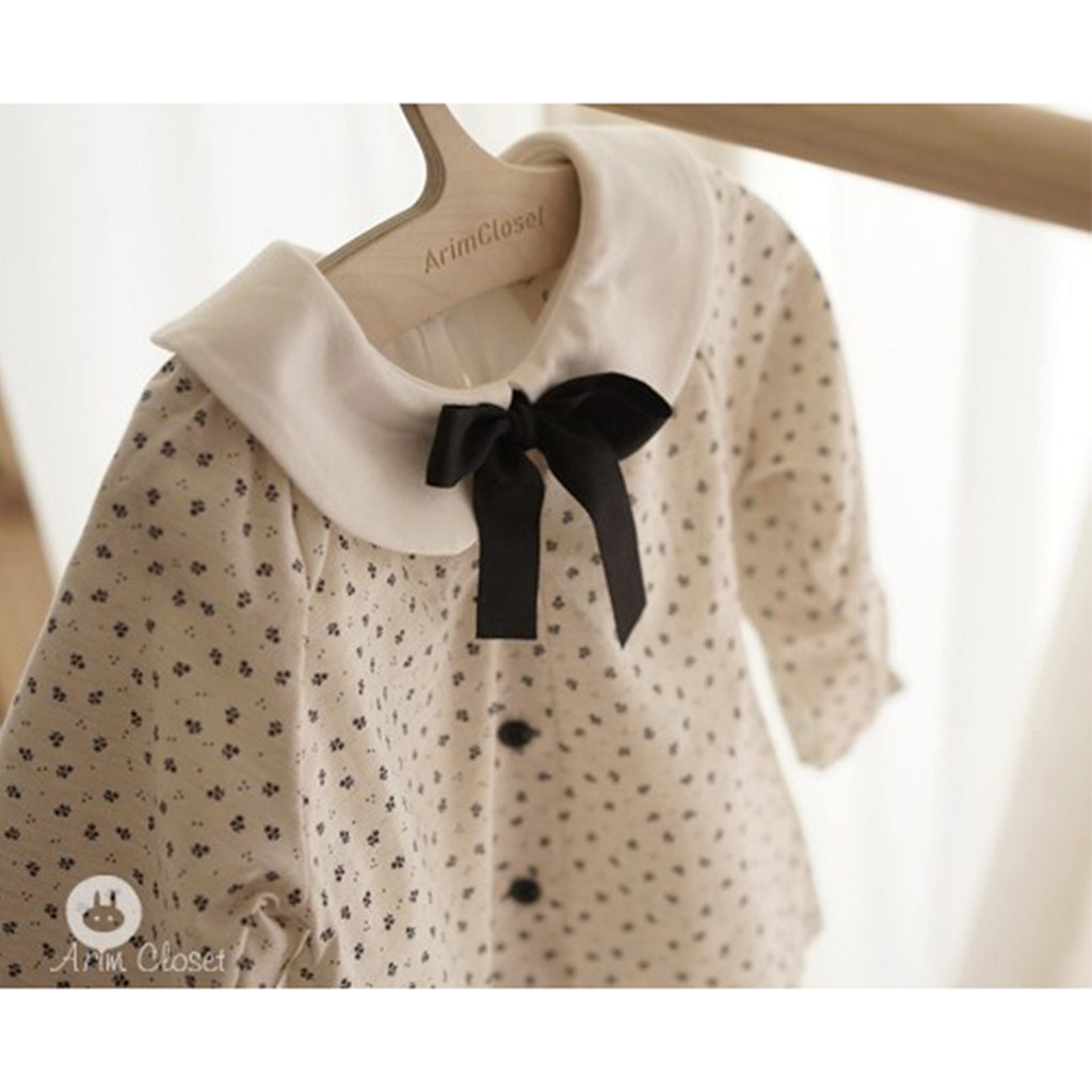 Black Ribbon Blouse - Kids Edition