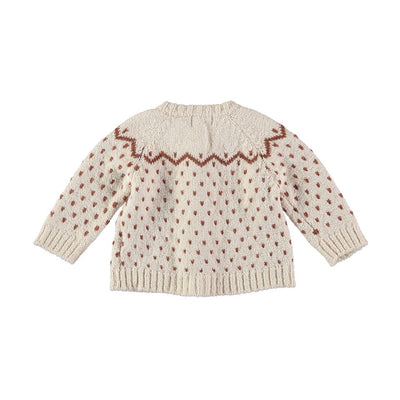 Cookie Knit Cardigan - Ecru - Kids Edition
