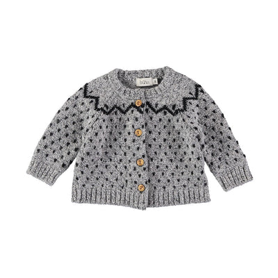 Cookie Knit Cardigan - Grey - Kids Edition