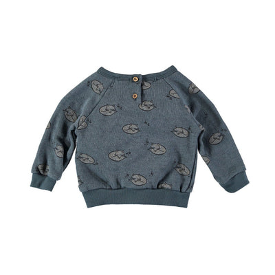 Elliot Foxes Sweater - Ocean Blue - Kids Edition