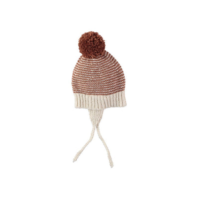 Yaki Knit Pom Pom Hat - Ecru - Kids Edition
