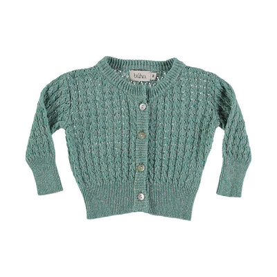 Amelie Baby Jacquard Cardigan - Mint - Kids Edition