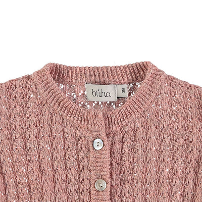 Amelie Baby Jacquard Cardigan - Rose - Kids Edition