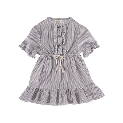 Laura Baby Mini Stripes Voile Dress - Buho, a designer children shoes and accessories brand based in Barcelona, Spain. Carried by Kids Edition, the best online designer children clothing boutique based in Vancouver, Canada.