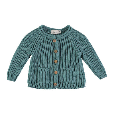 Peter Knit Cardigan - Mint - Kids Edition