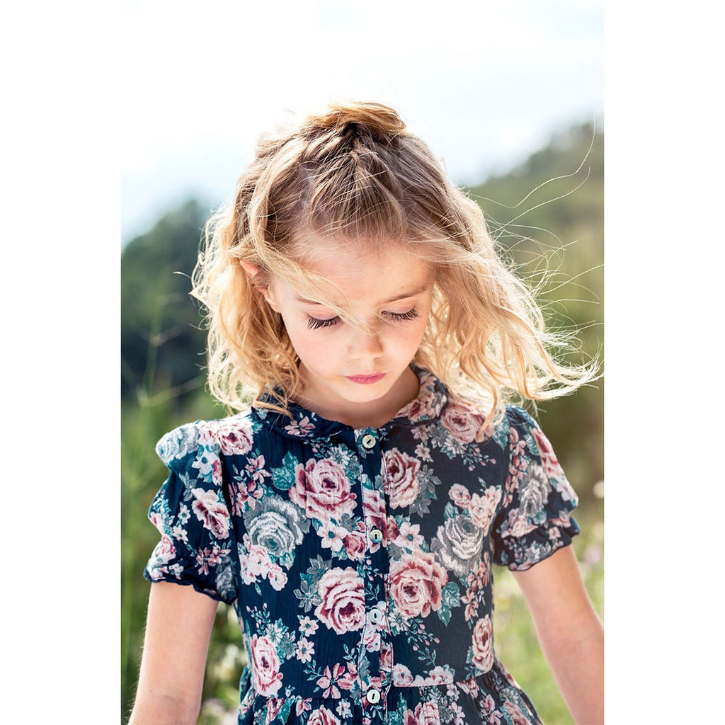 Peter Pan Collar Flowers Dress - Kids Edition