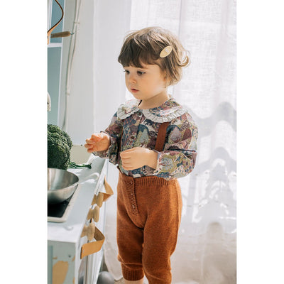 Mya Top-Khaki Forest - Kids Edition