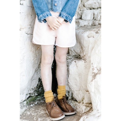 Brando Tan Burnished Leather - Young Soles,  a designer children shoes and accessories brand based in London, UK. Carried by Kids Edition, the best online designer children clothing boutique based in Vancouver, Canada.