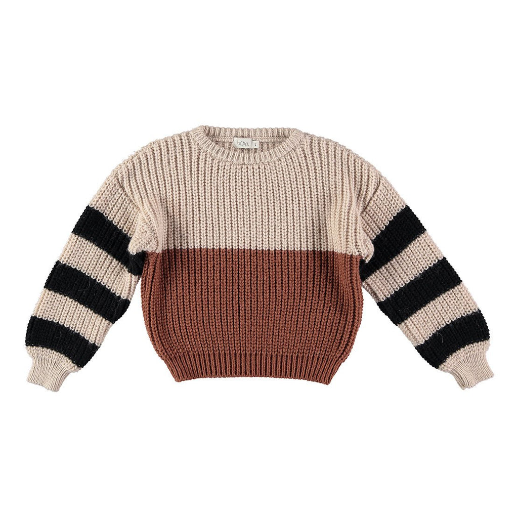 Carlo Striped Jumper - Caramel - Kids Edition