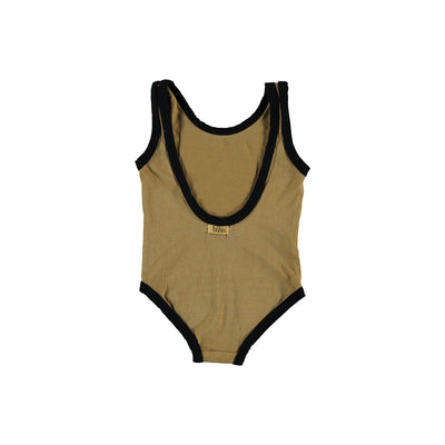Flash Black Piping Swimsuit