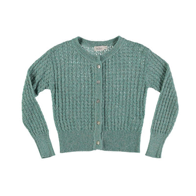Amelie Jacquard Cardigan - Mint - Buho, a designer children shoes and accessories brand based in Barcelona, Spain. Carried by Kids Edition, the best online designer children clothing boutique based in Vancouver, Canada.