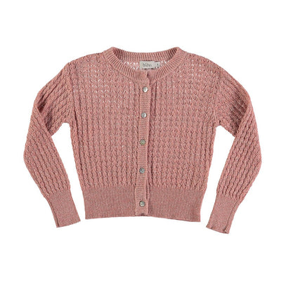 Amelie Jacquard Cardigan - Rose - Buho, a designer children shoes and accessories brand based in Barcelona, Spain. Carried by Kids Edition, the best online designer children clothing boutique based in Vancouver, Canada.