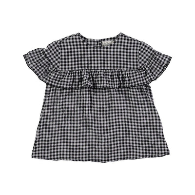 Cindy Vichy Ruffled Blouse - Kids Edition