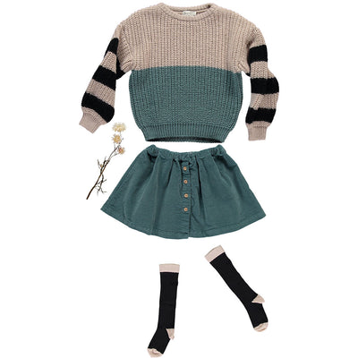 Carlo Striped Jumper - Green Forest - Kids Edition