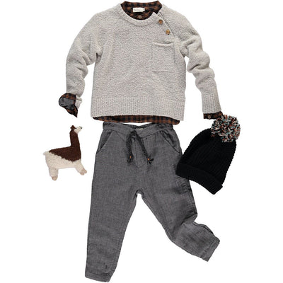 Fran Double Face Pant - Grey Vigo - Kids Edition