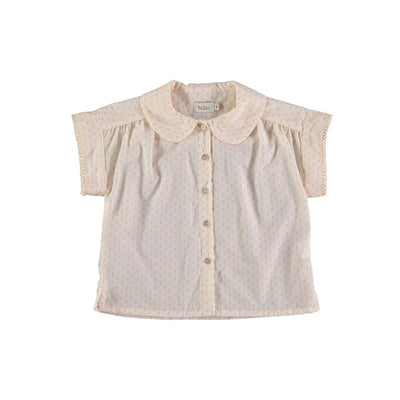 Martina Voile Flower Blouse - Rose - Buho, a designer children shoes and accessories brand based in Barcelona, Spain. Carried by Kids Edition, the best online designer children clothing boutique based in Vancouver, Canada.