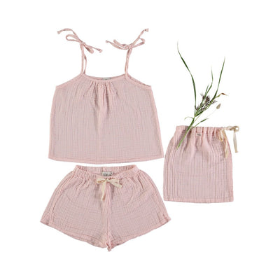Set Pipa Pyjama Kids - Light Pink - Buho, a designer children shoes and accessories brand based in Barcelona, Spain. Carried by Kids Edition, the best online designer children clothing boutique based in Vancouver, Canada.