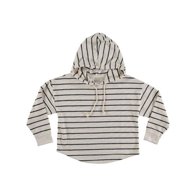 Willy Navy Stripes Hood Sweater - Buho, a designer children shoes and accessories brand based in Barcelona, Spain. Carried by Kids Edition, the best online designer children clothing boutique based in Vancouver, Canada.