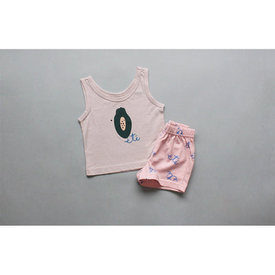 Papaya Sleeveless Pajama Set - Kids Edition