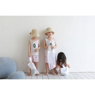 Papaya Sleeveless Pajama Set - Kokacharm, Carried by Kids Edition, Vancouver, Canada