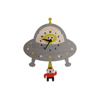 Saucer Pendulum Wall Clock - Kids Edition