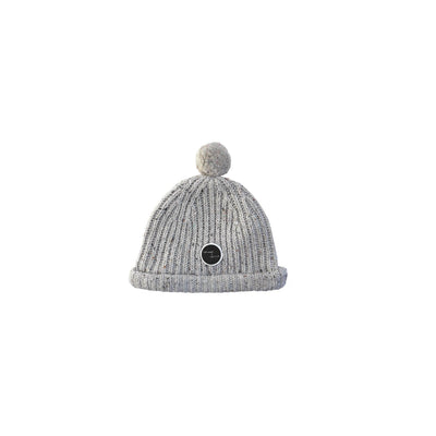 Light Grey Pompon Beanie - Kids Edition