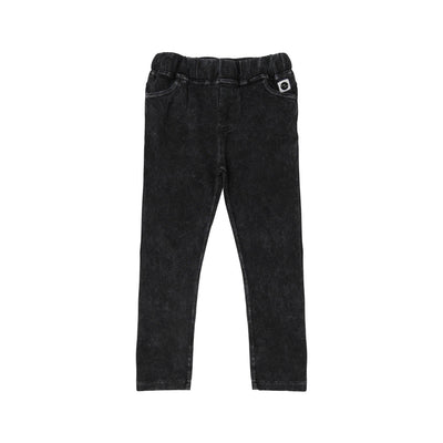 Black Washed Denim Legging - Kids Edition
