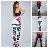 Letter Print Push Up Workout Leggings