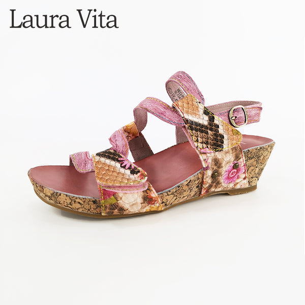 Genuine Leather Bohemian Cross-strap Sandals