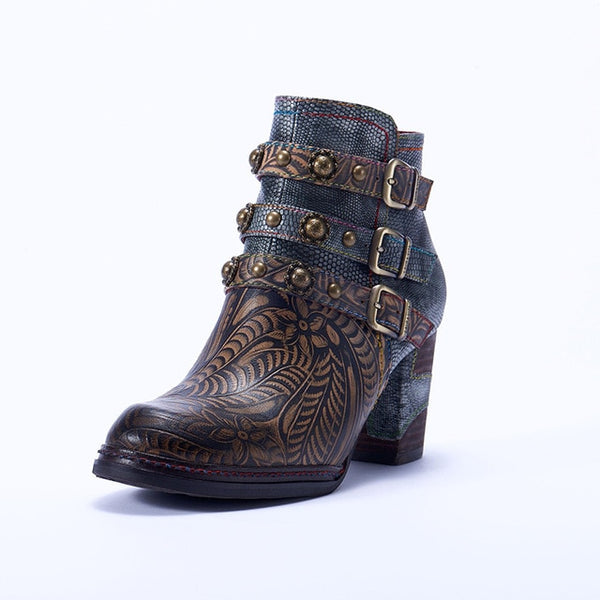Genuine Leather Bohemia Ankle Boots