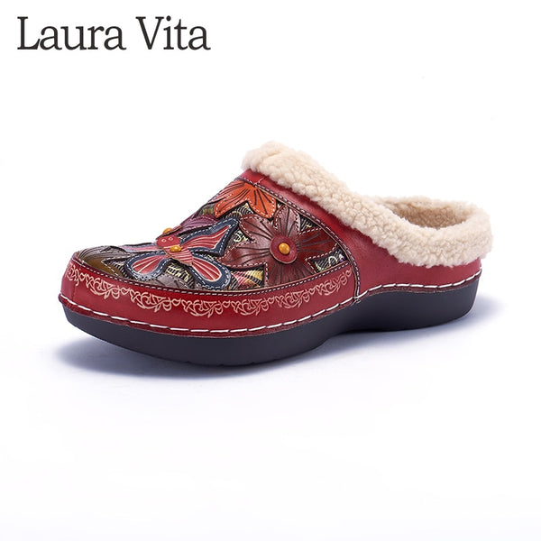 Retro Genuine Leather Causal Slippers