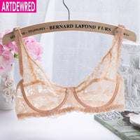 Femme Lace Bra Luxury Cotton Mesh Intimates